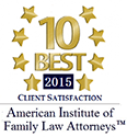 10 Best 2015 | Client Satisfaction | American Institute of Family Law Attorneys
